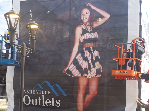 Asheville Outlet Mall Outdoor Banner