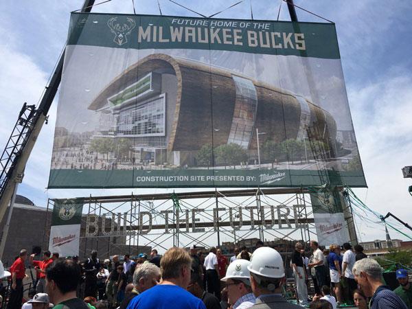 Bucks New Stadium Banner