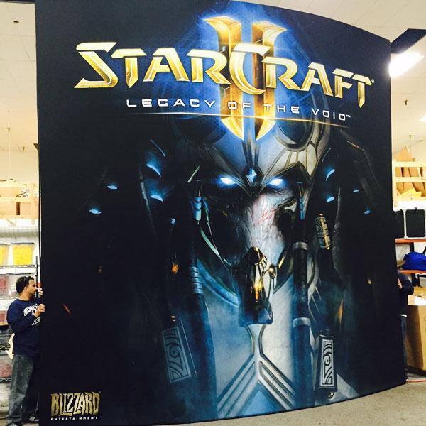 Starcraft Backwall Backdrop